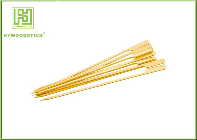 Gun Shape Flat Bamboo Sticks Wooden Barbecue Skewers For Picnic Tasteless