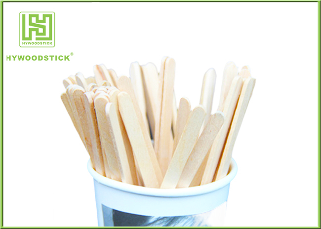 Natural Color Tea Stir Sticks Straight Edge , Personalized Drink Stirrers Non Glazes