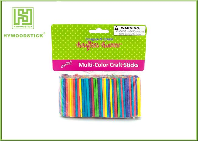 Multi - Color Math Natural Wood Sticks , Mini Craft Wooden Counting Sticks For Child