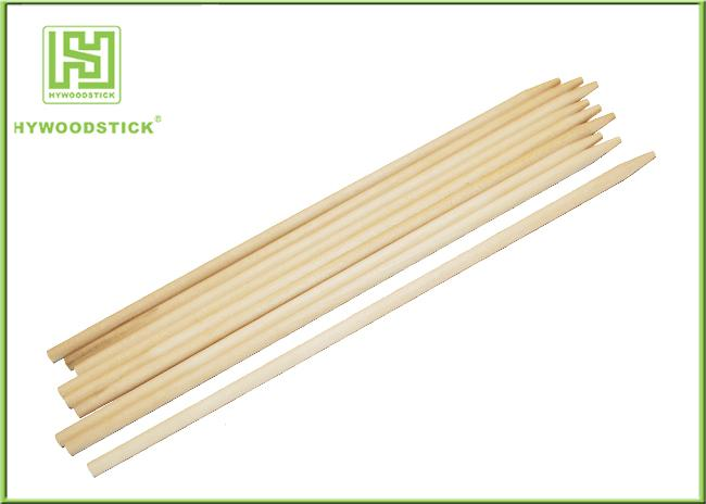 Two Points Natural Wood Sticks Wooden Dowels For Crafts With Chamfer Angles