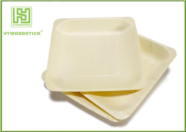 Ecochoice Biodegradable Disposable Cocktail Plates , Restaurant Wooden Dinner Plates