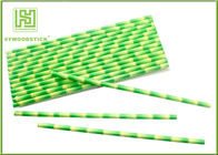 China Eco - Friendly Bamboo Paper Straws , Birch Wood Design Green Decorative Paper Straws factory