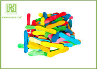 Colorful Wooden Craft Sticks Kids DIY Tools With FSC Certificated
