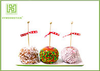 China Healthy Cake Ball Sticks 150 X 3.0mm , Logo Printed Personalized Wooden Candy Sticks distributor