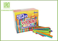 China Multi - Color Math Natural Wood Sticks , Mini Craft Wooden Counting Sticks For Child factory