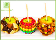 China Natural Color Pointed Wooden Sticks , Candy Apples Sticks For Supermarket factory
