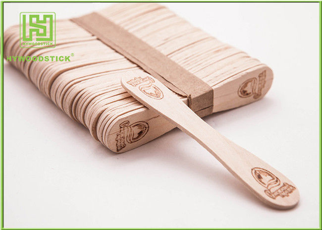 Bulk Custom Printed Wooden Spoons Ice Cream Taster Spoons With