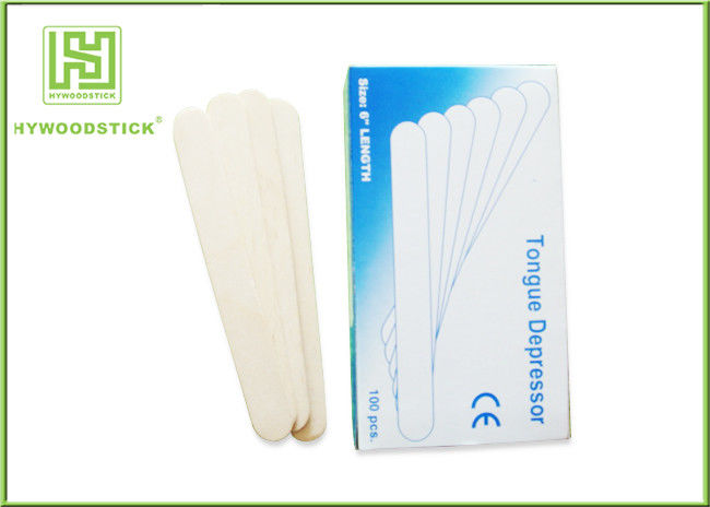 Wooden Tongue Depressor Individual Paper Wrapped EO Sterilize Disposable Spatula
