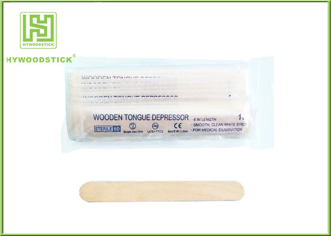 Biodegradable Wooden Tongue Depressor Small Lab Spatula For Laboratory