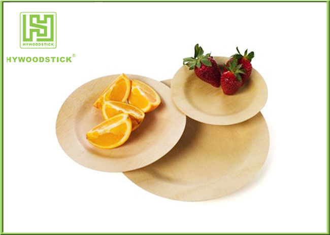& High End Disposable Bamboo Plates Camping Dinnerware Sets Smooth Surface