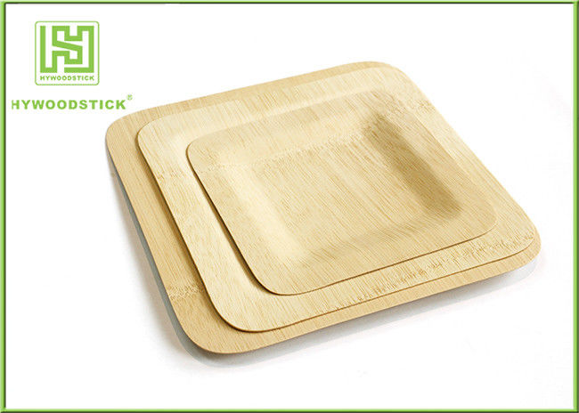 Large Square Disposable Bamboo Plates And Utensils Environmental Protection : bamboo plates and utensils - pezcame.com