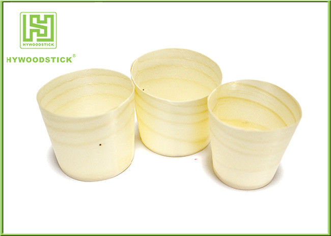 Wholesale Poplar Pine Wood Round Cup Wooden Cup for Food Dessert