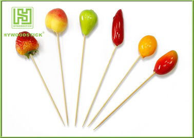Fruit Decorative Food Toothpicks New Style Christmas Fruit Skewers 15cm Size