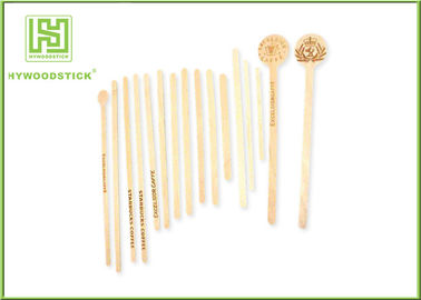 Eco Disposable Wooden Coffee Stirrer Sticks / Wooden Swizzle Sticks For Cafe Bar