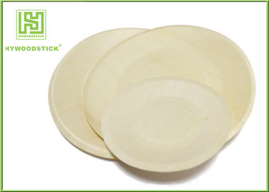 Wedding Disposable Plates Eco Friendly Tableware , Food Grade Wooden Party Plates