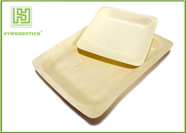 10'' Thanksgiving Holiday Disposable Wooden Plates Natural Barbecue / Sandwich Tray For Picnic