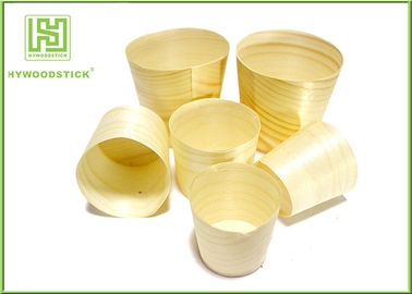 Smooth Healthy Wooden Sushi Boat Disposable Poplar Wooden Cups For Sauce