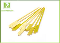 Bulk Packing Bamboo BBQ Sticks Green Gun Shape Rocket Bamboo Cocktail Picks