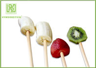 100% Natural Wood Flat Round Fruit Skewer Sticks For Kids Party